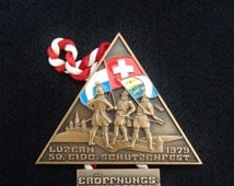 Swiss Medal 1979 Federal Shooting competition Luzern Lucerne, Switzerland - Swiss flag -  37th birthday gift - 37 years anniversary present