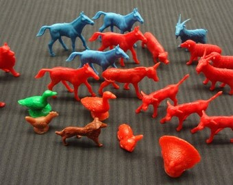 A Herd of Twenty Two (22) Solid Plastic Farm Animals from the 1970's