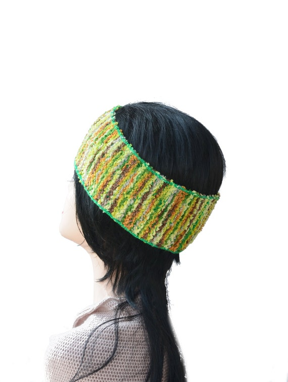 Knitted headwrap, Boho Headband