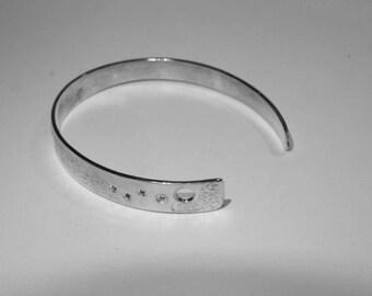 """Bracelet """"moon shadow"""" torque in 925"""