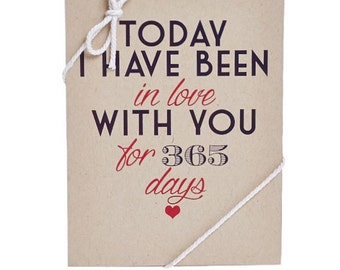 Days I've Been In Love With You Greeting Card - Today I have loved you for Greeting Card