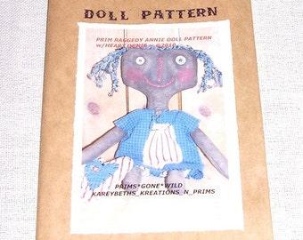 Primitive Raggedy Annie Doll Heart Ornie Pattern 3107B Sewing Pattern