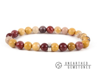 Mookaite Bracelet - Yoga Bracelet, Mookaite Jasper Bracelet, Mookaite Jewelry, Colorful Bracelet, Burgundy Bracelet