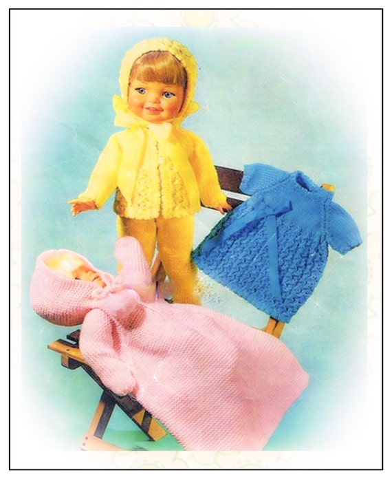 Knitting Pattern For Dolls Sleeping Bag : Knitted dolls clothes knitting pattern sleeping bag pram suit