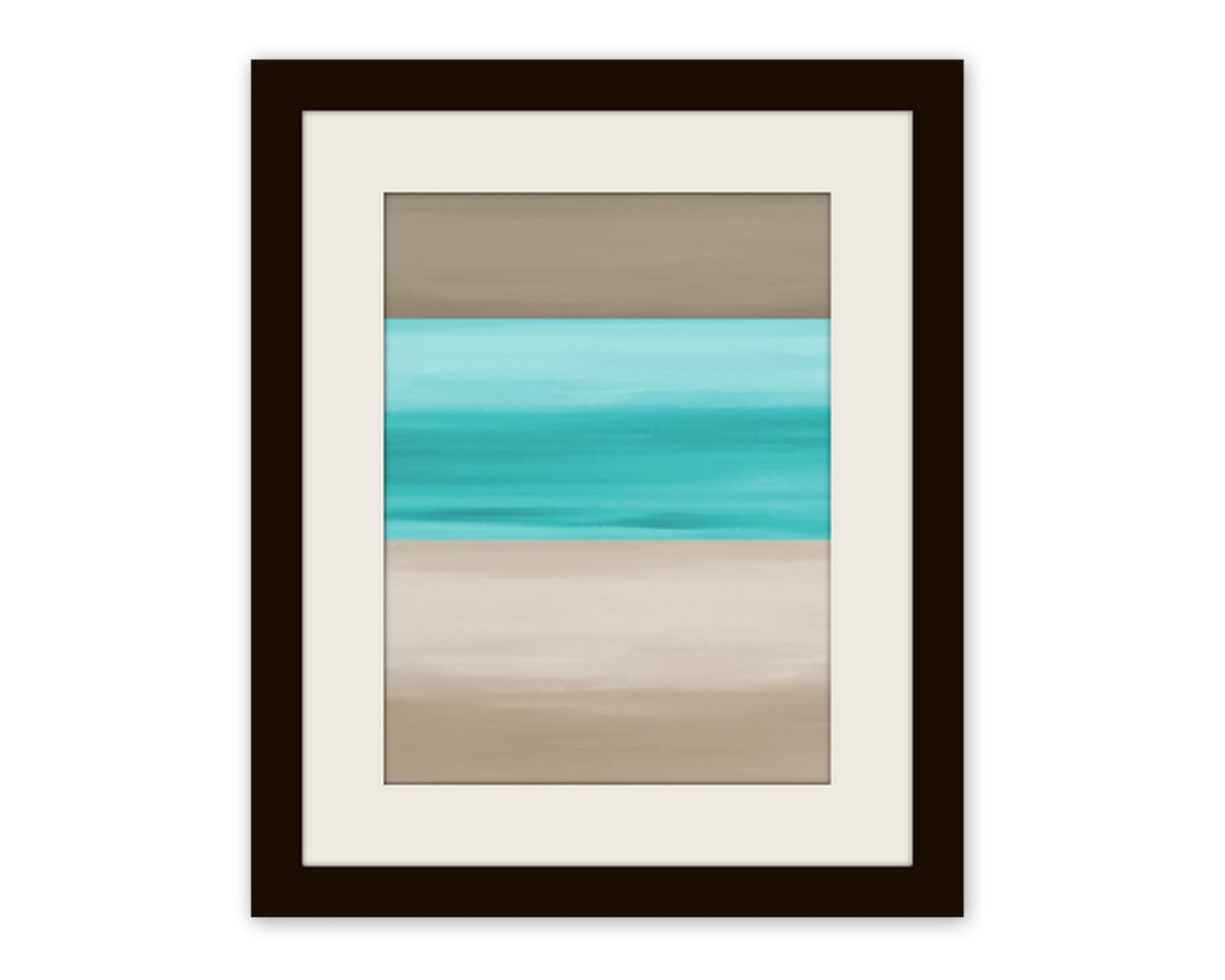 Abstract wall art print taupe teal art by hlbhomedesigns on etsy - Wall taupe ...