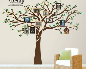 Family Tree Wall Decal 7.5 Ft. Tall X 10 Ft. Wide   With 01 Part 82