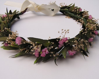 Bridal hair Crown, Woodland Headpiece, Flower Crown, Wedding Hair Wreath, Rustic Hairpiece, Natural Head Crown, Outside wedding