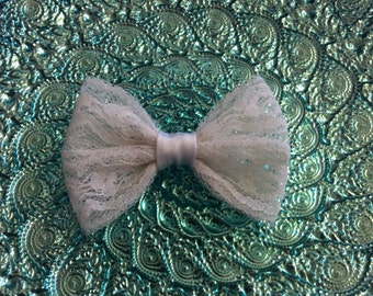 Lace And Satin hair bow