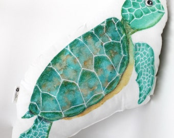 Sea turtle pillow. Sea turtle decor. Under the sea nursery. Ocean decor. Kids room decor. Kids gift. Baby shower gift. Children room decor.