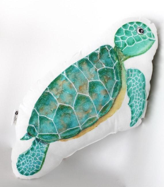 Sea Turtle Pillow. Sea Turtle Decor. Under The Sea Nursery
