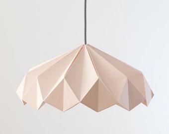 Origami lamp. Paper lamp. Nordic design lamp. Lamp of Scandinavian design. Model will be pink.