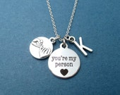 Personalized, Letter, Initial, PInky, Promise, You're my person, Youre my person, Necklace, Grey's anatomy, Cute, Gift, Jewelry