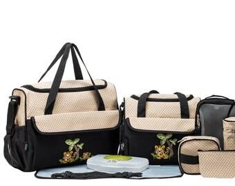 Monogram Tiger Diaper bag/ safrai tiger diaper bag/10pc. diaper bag set/carryall