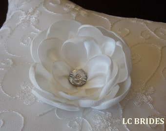 Ivory Flower Wedding Ring Bearer Pillow