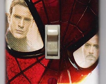 Captain America Civil War Light Switch Cover Plate - Amazing Spider Man Marvel Comics FREE SHIPPING