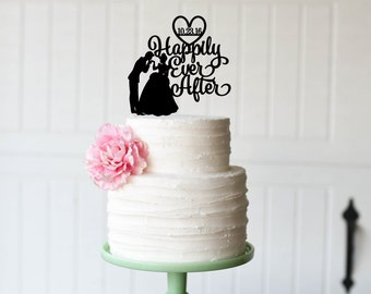 Beautiful Cinderella Wedding Cake Topper Happily Ever After Cake Topper Personalized Cake  Topper Awesome Design