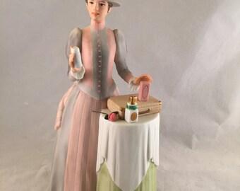 Vintage Avon Miss P.F.E. Albee Award Porcelain Figurine 1984