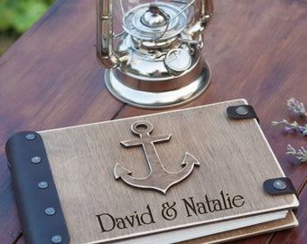 Wedding Guest Book, Guest Book, Custom Guest Book, Wedding Guestbook, Wedding, Wood Guest Book, Nautical Wedding, Beach Wedding, Guestbook