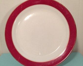Pyrex Dinnerware Burgundy Platter