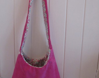 Lovely pink suede bag