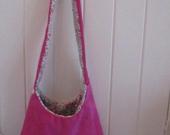 Lovely pink suede bag