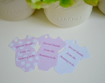 50 Baby Shower Thank You Tags- Ready to ship! Baby Girl