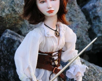 "OOAK art doll ""Berenice"" 40 cm, ooak, doll, art doll, warrior, fantasy, sword, bjd, bjd doll"