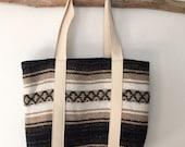 Serape Tote Bag - Farmers Market Bag - Large Purse - Baha Blanket Tote - Tote Bag - Boho Bag - Southwestern Bag - Eco-Friendly Tote - Vegan