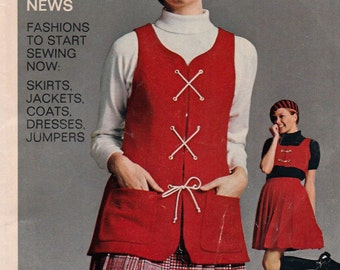 1969 Simplicity Fashion News Booklet Suits Jumpers Dresses 20 Pages