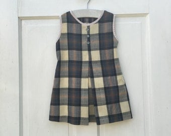 Vintage Handmade Plaid Dress 3/4