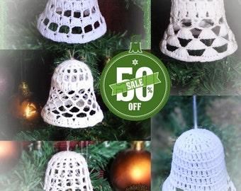 5 crochet christmas bells ornament pdf pattern