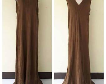 Beautiful Brown/Dress loos/Summer dresses/Maternity dress/ maxi summer dress/long dress/boho maxi dress Plus Size XS - 5XXL