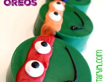 Ninja Turtle inspired oreos