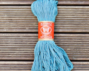 100% Mercerised Cotton Yarn, petrol blue, Knitting and crochet