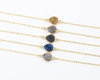 SALE Druzy Necklaces -- Druzy Choker Necklace druzy jewelry supplies wholesale geode bridesmaid dainty necklaces YHA-003