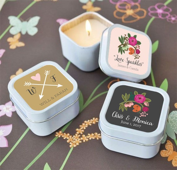 Candle Wedding Favors Wedding Favor Candles Personalized