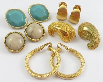 Vintage Designer Costume Clip-on Earrings by Hill, Bohm, Anne Klein and More