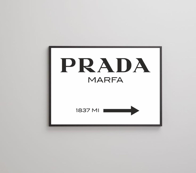 prada marfa affiche imprimer sur papier ou toile jusqu 39 au. Black Bedroom Furniture Sets. Home Design Ideas