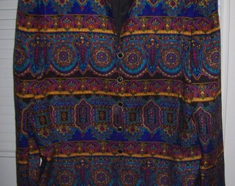 Jacket 16,  Adrianna Papell Silk Jacket - Enchanting Lovely Find ! India Flavor  Size 16