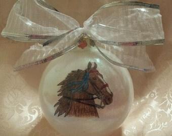 American saddlebred ornament, horse ornament, handmade ornament, Christmas ornament, handmade ornament, equestrian ornament