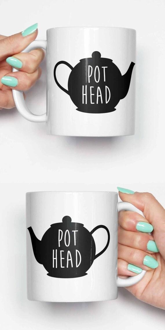 Topf Kopf Teekanne lustige Becher Geschenke für ihn Meme