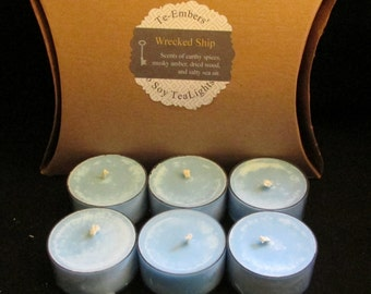 Shipwreck Scented 6 Pack Soy Tea Lights