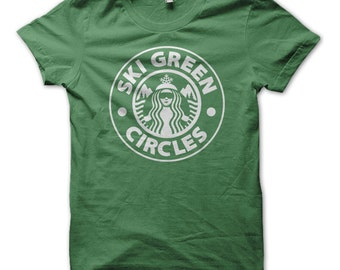 Ski Green Circles Ski T-Shirt - NEW!