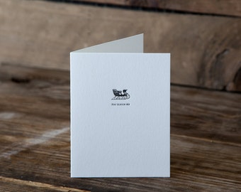 You Sleigh Me Letterpress Card | Howl Paper Studio