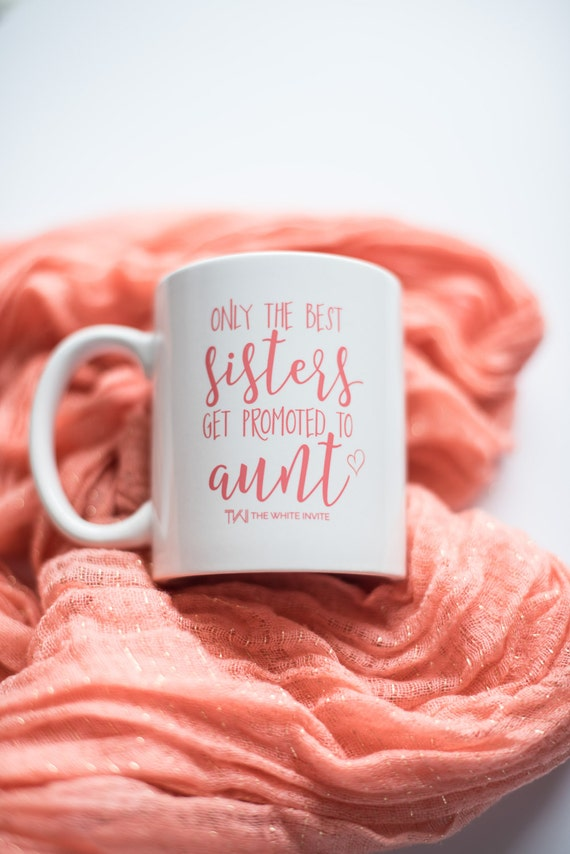 aunt pregnancy announcement cup coffee mug only the best