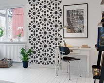 Geometric Moroccan Star Wall Pattern Decal Set