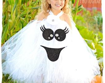 Ghost Tutu Dress, Ghost Halloween Costume, Halloween Pageant Ghost Costume, Baby Girl Ghost Tutu Costume