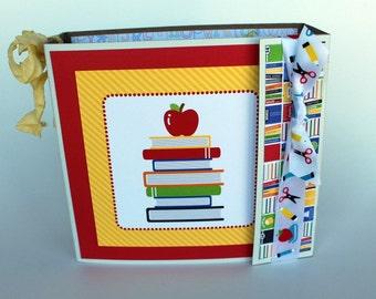 School Mini Album Scrapbook Album Apple Scrapbook End of the Year Teacher Gift, Back to School Scrapbook, graduation gift