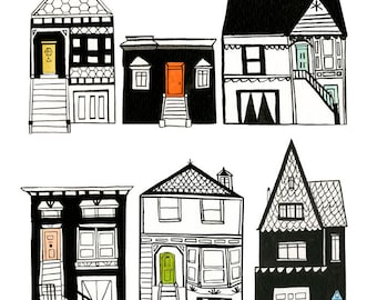 Row Houses Archival Print by Lindsay Gardner