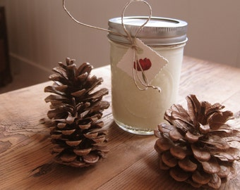 One Holiday Scented Soy Candle in 8oz Mason Jar